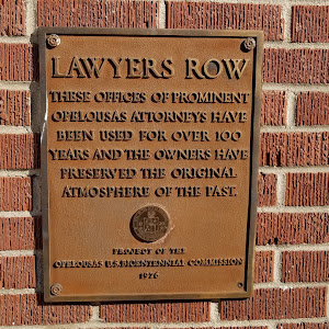 These offices of prominent Opelousas attorneys have been used for over 100 years and the owners have preserved the original atmosphere of the past.