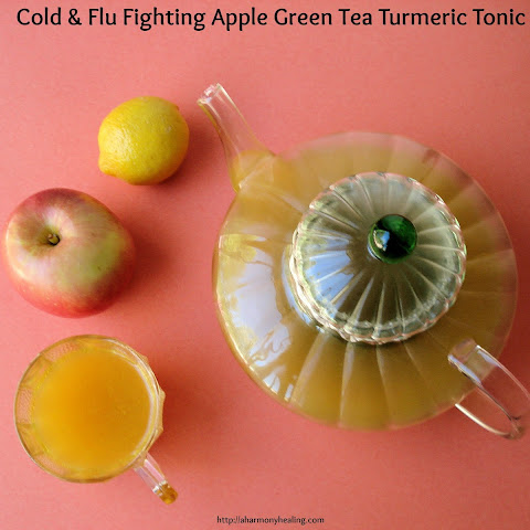 Cold & Flu Fighting Apple Green Tea Turmeric Tonic