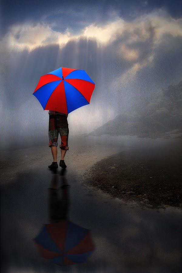 Walking in the Rain by Jennifer Woodward - Digital Art People