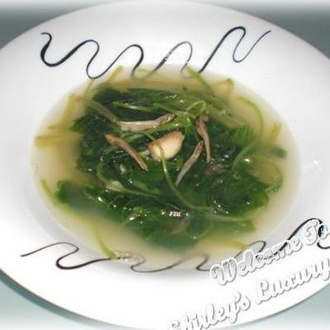 Mom's Spinach Soup With Anchovies