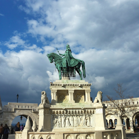 by Monika Norvaisaite - Novices Only Street & Candid ( clouds, budapest, statue, sky )