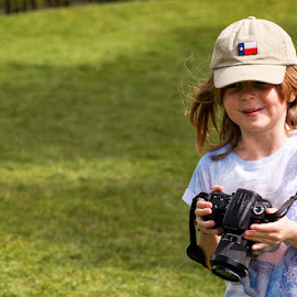 New Tog on the Block by Mark Thompson - Babies & Children Children Candids ( girl, baseball cap, holly, grass, waddesdon manor, sony a58, national trust, spring )