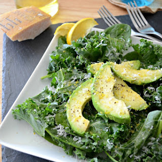 Avocado, Kale and Spinach Salad {Guest Post by Sarcastic Cooking}