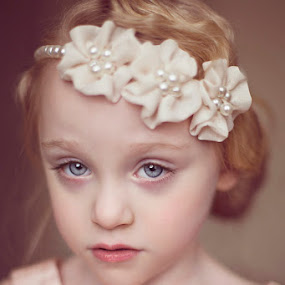Ruby by Kristen VanDeventer Rice - Babies & Children Child Portraits ( child, 20's, vintage, 30's, peach, flowers, portrait )