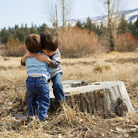 Hugs in the Forest by Billy Brooks - Babies & Children Children Candids