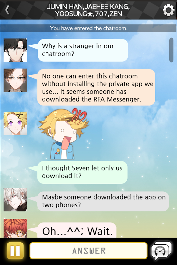 Mystic Messenger Screenshot 1