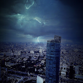 Cloudy n Lightning by Ronz'da Dezign - Buildings & Architecture Office Buildings & Hotels
