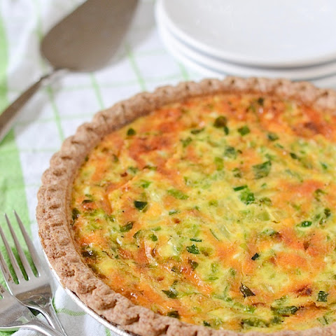 Easy Brussels Sprouts and Cheddar Cheese Quiche