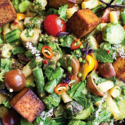 Thai Chopped Salad with Tofu