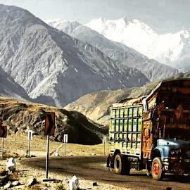 Truck by Ali Joiya - Transportation Other ( trucks, pakistan, mountains, colorful, shot )