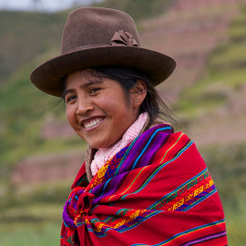Peruvian Lady by Janet Marsh - People Portraits of Women ( peru, lady, smile,  )