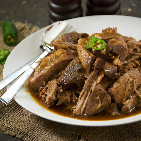 Beer-Braised Pork Shoulder with Polenta
