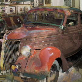 old car by Jon Radtke - Digital Art Things ( history, car, old, old car, car show, chicago )