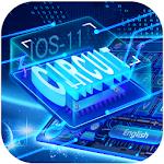 Neon Laser Circuit Keyboard Theme Icon