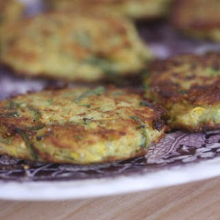 Summer Squash and Cornmeal Cakes