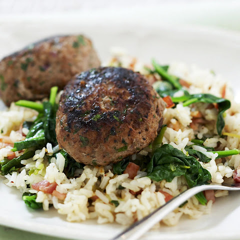 Turkey Patties with Spinach Rice