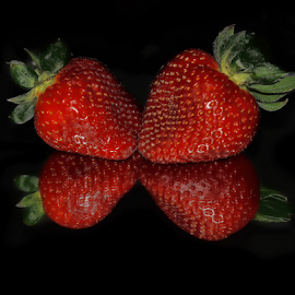 strawberry on the mirror by LADOCKi Elvira - Food & Drink Fruits & Vegetables (  )