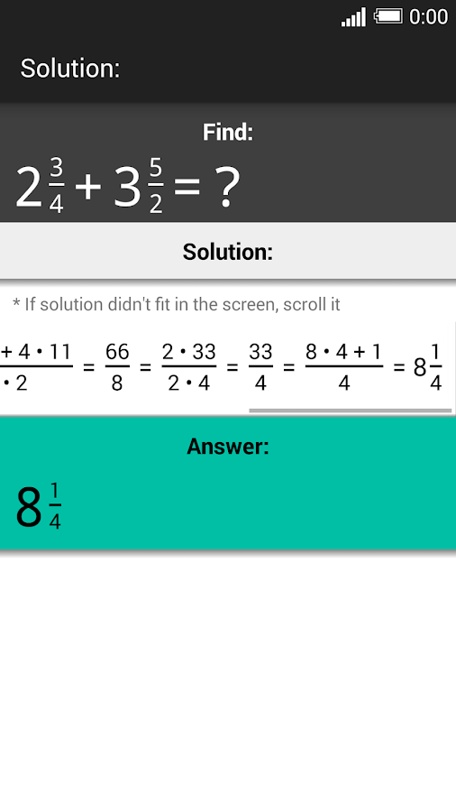 Fraction Calculator PRO Screenshot 2