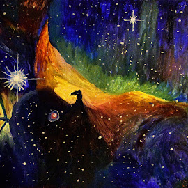 Horse Head Nebula by Paul Robin Andrews - Painting All Painting ( orions belt, nebula, horse head, space, oil painting )