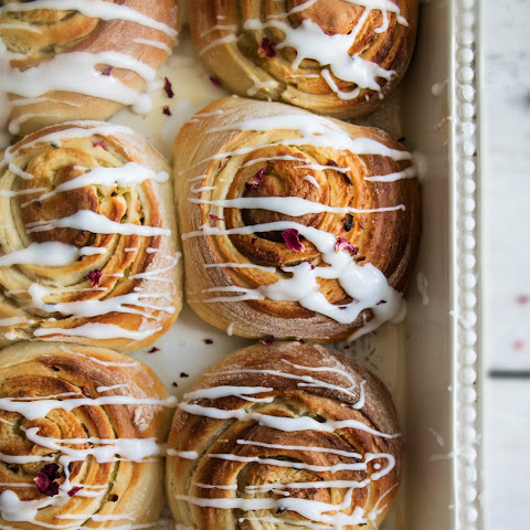 Rhubarb And Rose Sticky Buns