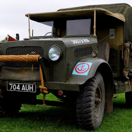 Navy OY by DJ Cockburn - Transportation Automobiles ( britain, world war two, 704 auh, truck, headcorn, vehicle, automobile, ashford, kent, car, uk, antique, england, bedford oy, historic, royal navy, living history, pickup truck, display, heritage, history, transport, 2018 combined ops military & air show, british truck, transportation, lorry, second world war, vintage, 36579 rn )