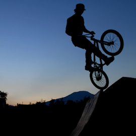 hovering in the air by bike by Riky Sanria - Transportation Bicycles ( action, sports, sport )