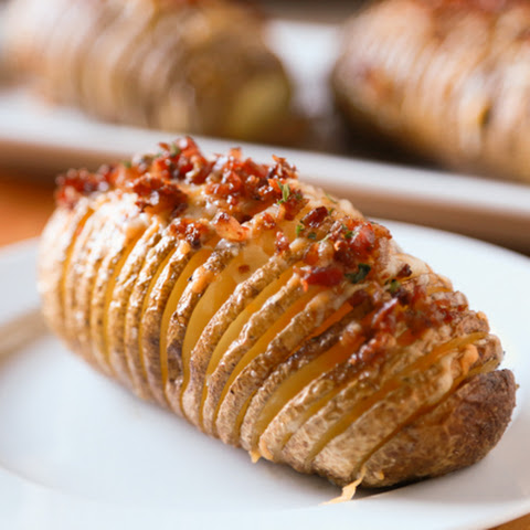 Bacon & Cheese Hasselback Potatoes