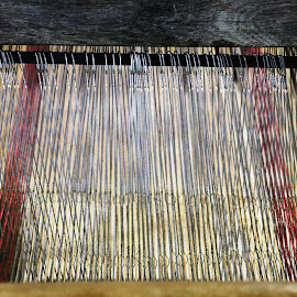 Old Loom by Roxanne Dean - Artistic Objects Industrial Objects ( wooden, weave, antique, loom, yarn )