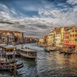 Grand Canal, Venice by Angela Higgins - Transportation Boats