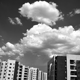 Clouds in B&W by Pradeep Kumar - Landscapes Cloud Formations