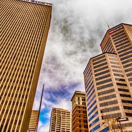 Five Buildings by Richard Michael Lingo - Buildings & Architecture Office Buildings & Hotels ( office buildings, buildings, cincinnati, ohio, architecture )