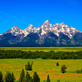 GRAND TETONS RANGE by Gerry Slabaugh - Landscapes Mountains & Hills ( mountains, rocky mountains, wyoming, grand tetons range, jackson hole, grand tetons national park, grand tetons, peaks )