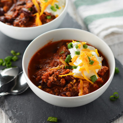 Simple Turkey Chili with Kidney Beans