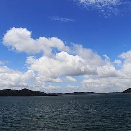 Bhadra Water Resevoier by Guru Prasad - Landscapes Cloud Formations ( waterscape, guru prasad, landscapes, landscape )