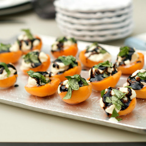 Apricot Ricotta Honey Basil Bites