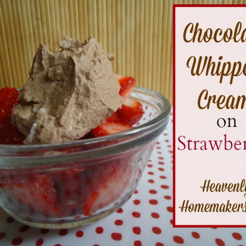 Chocolate Whipped Cream on Strawberries