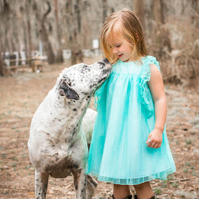 My Best friend by April Sadler - Babies & Children Children Candids ( #child #girl #dog #dress #blue #nature #love,  )