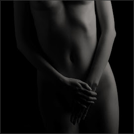by Jan Arvid Solem - Nudes & Boudoir Artistic Nude ( body, nude, soft focus, black and white, artsy )