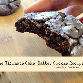 The Ultimate Chocolate Cake Batter Cookie