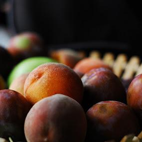 Rich Crop by Daniel Guta - Food & Drink Fruits & Vegetables ( fruits, peach, fruit basket, plum )