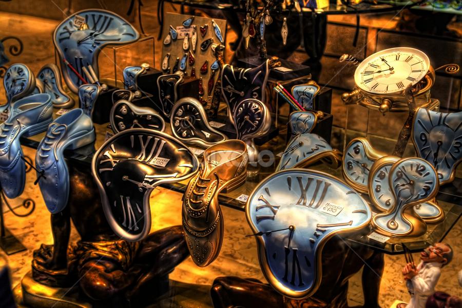 Dali by Marco Caciolli - Digital Art Things ( artistic, dali, objects, clocks, antiques, city )