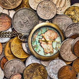 by Opreanu Roberto Sorin - Artistic Objects Business Objects ( old, count, change, time, hurry, future, age, year, bank, credit, financial, isolated, hours, watch, period, loan, many, present, pocket, coins, cash, wealth, deadline, concept, savings, date, business, currency, minute, life, overdue, timer, glass, money, dollar, gold, hourglass, aging, abstract, is, payment, pressure, clock, rich, coin, hour, past, opportunity, finance, timely )