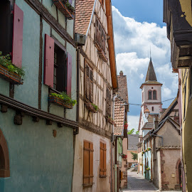Old ways by Mark Tart - City,  Street & Park  Historic Districts ( man-made structures, family vacation, europe, village, buildings, france, alsace, narrow streets )