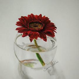 flower vase by Samriddhi Dutta - Painting All Painting ( art, painting, flower )