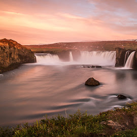 by Lilja Gudmundsdottir - Landscapes Cloud Formations ( clouds, godafoss, waterfall, <iceland )