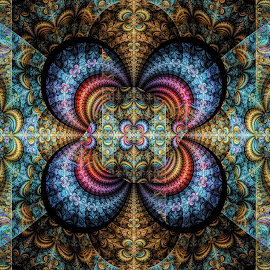 Bipolar Rectangles Julian 2 by Peggi Wolfe - Illustration Abstract & Patterns ( digital, gift, color, wolfepaw, jwildfire, bright, pattern, abstract, décor, julian, print, unique, fractal, illustration, rectangle, bipolar, unusual, fun )