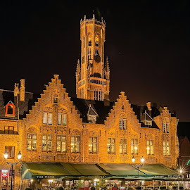 Brugge... by Ioannis Alexander - Buildings & Architecture Public & Historical ( landmark, night photography, historic district, long exposure, historical, brugge )