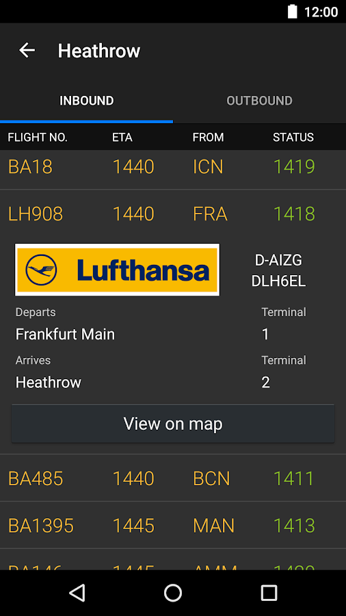 Plane Finder - Flight Tracker Screenshot 5