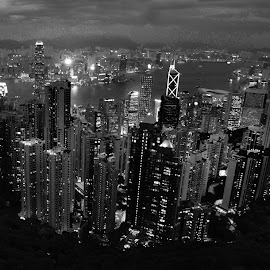 Hong Kong Cityscaoes by Woo Yuen Foo - City,  Street & Park  Skylines