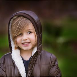 Warmth by Liz Straight - Babies & Children Child Portraits ( jacket, natural light, outdoors, child portrait, children, kids, portraits, portrait )